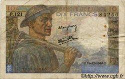 10 Francs MINEUR FRANCE  1941 F.08 B+ à TB