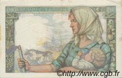 10 Francs MINEUR FRANCE  1942 F.08.03 TTB+
