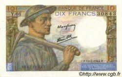 10 Francs MINEUR FRANCE  1944 F.08.10 pr.SPL