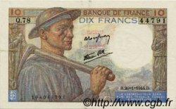 10 Francs MINEUR FRANCE  1944 F.08.11 SUP