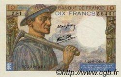 10 Francs MINEUR FRANCE  1944 F.08.12 SUP+