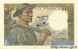 10 Francs MINEUR FRANCE  1944 F.08.12 SUP à SPL