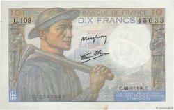 10 Francs MINEUR FRANCE  1946 F.08.15 pr.SPL