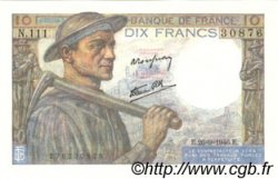 10 Francs MINEUR  FRANCE  1946 F.08.15 SPL