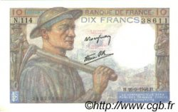 10 Francs MINEUR FRANCE  1946 F.08.15 SUP