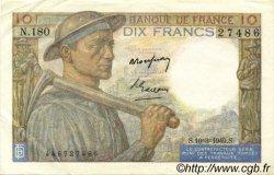 10 Francs MINEUR FRANCE  1949 F.08.20 SUP à SPL