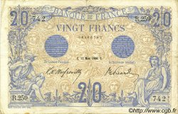 20 Francs BLEU FRANCE  1906 F.10.01 TB+