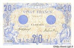20 Francs BLEU FRANCE  1913 F.10.03 TTB