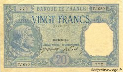 20 Francs BAYARD FRANCE  1916 F.11.01 pr.SUP