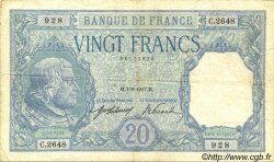 20 Francs BAYARD FRANCE  1917 F.11.02 TB+ à TTB