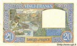 20 Francs SCIENCE ET TRAVAIL FRANCE  1940 F.12.06 SUP