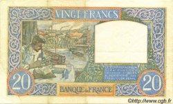 20 Francs SCIENCE ET TRAVAIL FRANCE  1940 F.12.06 TTB+