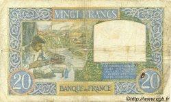 20 Francs SCIENCE ET TRAVAIL FRANCE  1940 F.12.11 AB