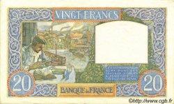 20 Francs SCIENCE ET TRAVAIL FRANCE  1940 F.12.11 SUP+