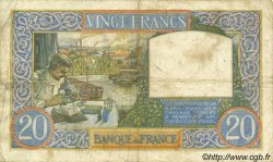 20 Francs SCIENCE ET TRAVAIL FRANCE  1941 F.12.17 TB
