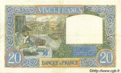 20 Francs SCIENCE ET TRAVAIL FRANCE  1941 F.12.18 TTB