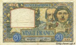 20 Francs SCIENCE ET TRAVAIL FRANCE  1941 F.12.19 pr.TTB