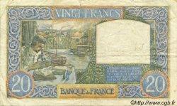 20 Francs SCIENCE ET TRAVAIL FRANCE  1941 F.12.19 pr.TTB