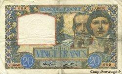 20 Francs SCIENCE ET TRAVAIL FRANCE  1941 F.12.20