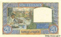 20 Francs SCIENCE ET TRAVAIL FRANCE  1941 F.12.20 pr.NEUF