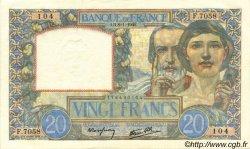 20 Francs SCIENCE ET TRAVAIL FRANCE  1942 F.12.21 NEUF