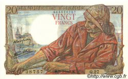 20 Francs PÊCHEUR FRANCE  1942 F.13.02 NEUF
