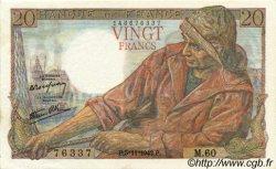 20 Francs PÊCHEUR FRANCE  1942 F.13.04