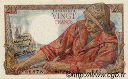 20 Francs PÊCHEUR FRANCE  1943 F.13.05 SUP