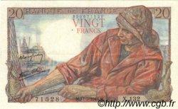20 Francs PÊCHEUR FRANCE  1944 F.13.09 SUP