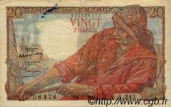 20 Francs PÊCHEUR FRANCE  1950 F.13.17 TB+