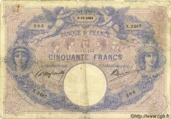 50 Francs BLEU ET ROSE FRANCE  1903 F.14.15 B