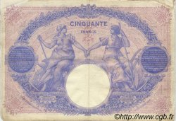 50 Francs BLEU ET ROSE FRANCE  1911 F.14.24 TB+