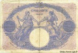 50 Francs BLEU ET ROSE FRANCE  1921 F.14.34 TB