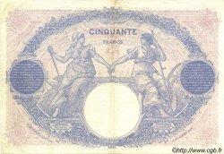50 Francs BLEU ET ROSE FRANCE  1922 F.14.35 TTB+