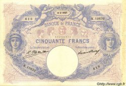 50 Francs BLEU ET ROSE FRANCE  1927 F.14.40 pr.SUP