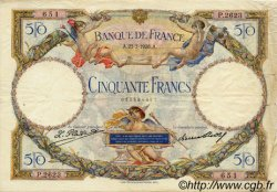 50 Francs LUC OLIVIER MERSON FRANCE  1928 F.15.02 TTB