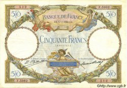50 Francs LUC OLIVIER MERSON FRANCE  1930 F.15.04 TTB+