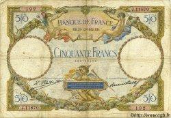 50 Francs LUC OLIVIER MERSON type modifié FRANCE  1932 F.16.03 B à TB