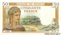 50 Francs CÉRÈS FRANCE  1935 F.17.04 SUP