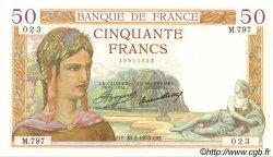 50 Francs CÉRÈS FRANCE  1935 F.17.05 SUP