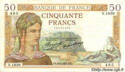 50 Francs CÉRÈS FRANCE  1935 F.17.10 TTB