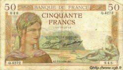 50 Francs CÉRÈS FRANCE  1936 F.17.25 B