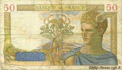 50 Francs CÉRÈS modifié FRANCE  1937 F.18.04 pr.TB