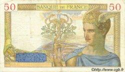 50 Francs CÉRÈS modifié FRANCE  1938 F.18.10 pr.TTB