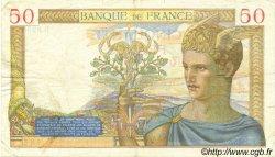 50 Francs CÉRÈS modifié FRANCE  1938 F.18.13 TTB