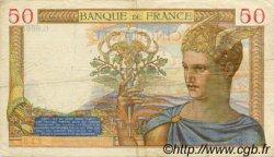 50 Francs CÉRÈS modifié FRANCE  1938 F.18.16
