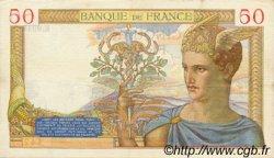 50 Francs CÉRÈS modifié FRANCE  1939 F.18.19 TTB+