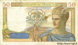 50 Francs CÉRÈS modifié FRANCE  1939 F.18.21 TB
