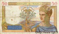 50 Francs CÉRÈS modifié FRANCE  1939 F.18.24 TTB