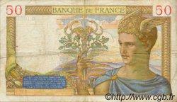 50 Francs CÉRÈS modifié FRANCE  1939 F.18.28 pr.TTB